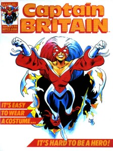 Captain Britain, vol. 2 #13. Art by Alan Davis